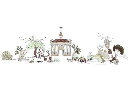 natural park illustration Vector