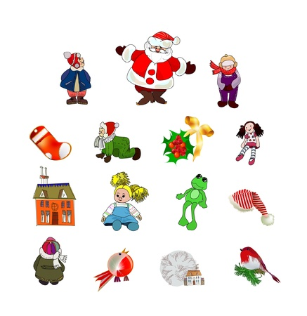 Christmas icons Stock Vector - 10678897