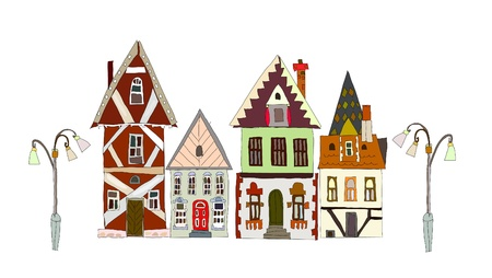old town street Stock Vector - 10678895