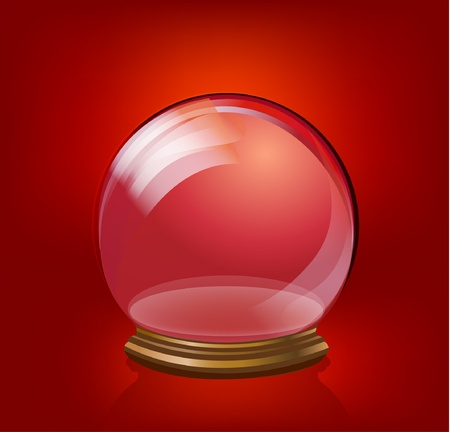 sphere standing: Glass ball