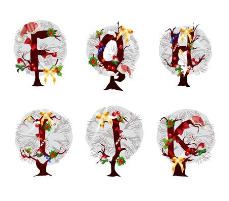 accidentado: Alfabeto de Navidad