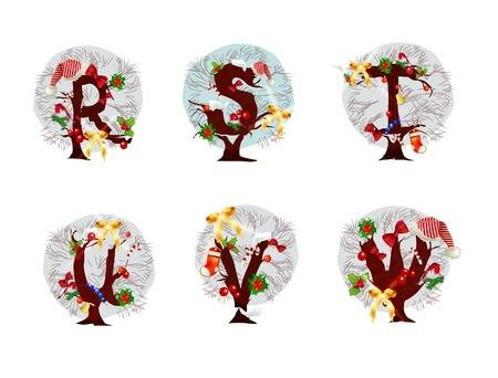 Christmas alphabet Stock Vector - 10742760