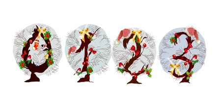 Christmasy numbers  Vector