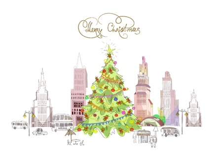 Christmas in the city Stock Vector - 10779889