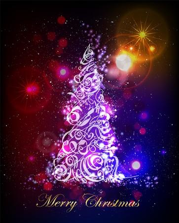 father christmas: Christmas tree