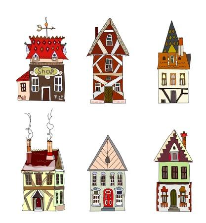 casita de dulces: Conjunto de casas