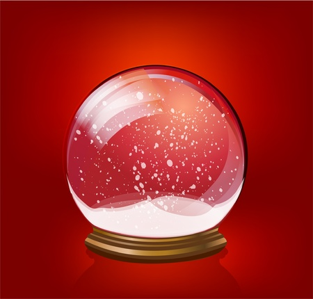 christal: snow globe template