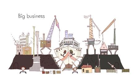 Big business of ship yard Stock Vector - 10830065