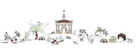 lake house: Nature park Illustration