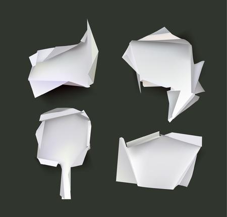 footer: set of paper backgrounds Illustration
