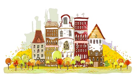 Autumn street Stock Vector - 11077977