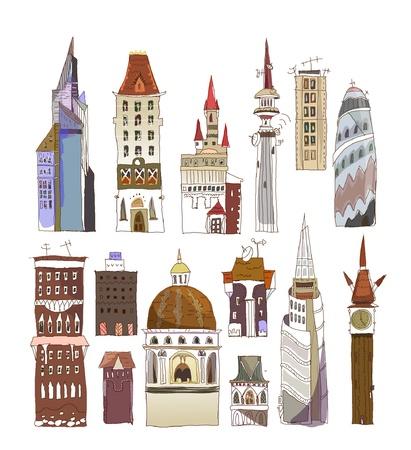 brownstone: modern architecture set