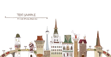 website traffic: City background Illustration