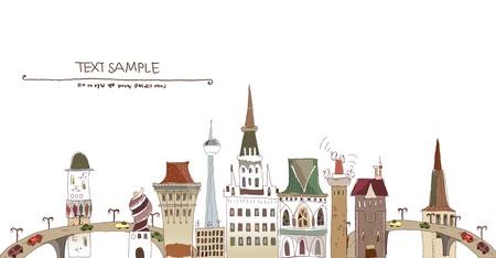 De la ciudad de fondo Ilustración de vector