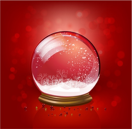 snow dlobe template Vector
