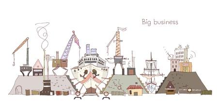sea port: Ship yard