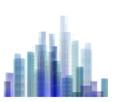 central park: Abstract city view Illustration