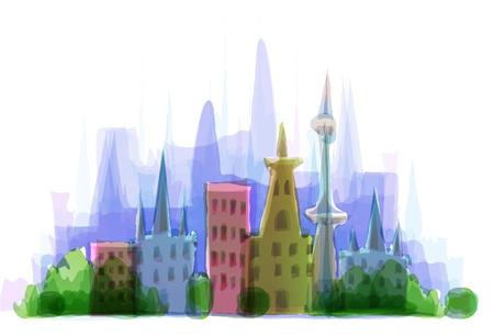 central park: Ciudad moderna Vectores