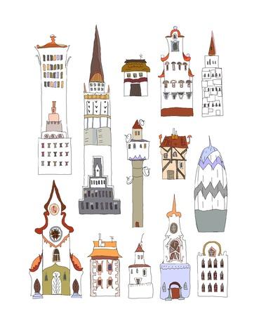 high detail: City buildings set