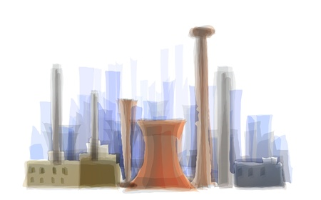 steam output: industrial illustration