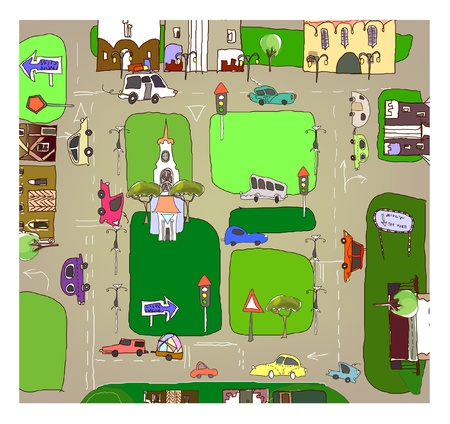town houses capital: city map