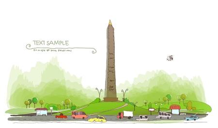 avenue: Park, roads and memorial