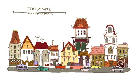 street of lod town Vector