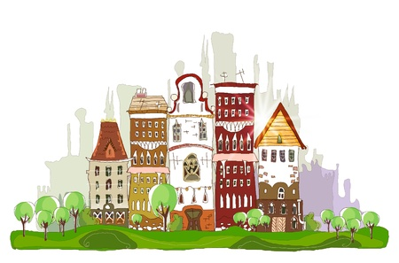 houses (street of tne big city) Vector