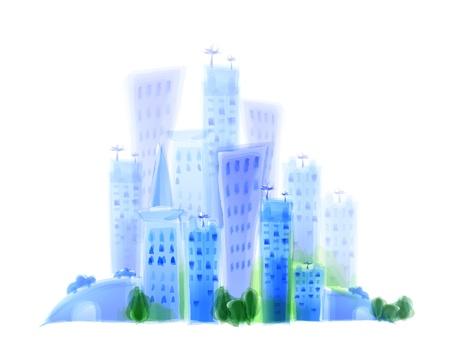 multiply: ciudad moderna Vectores