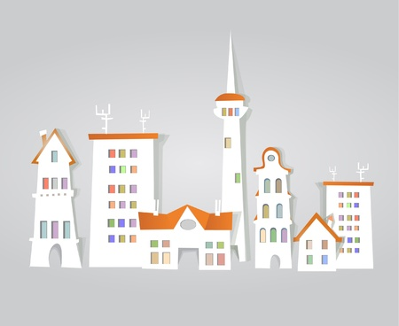 city street background Vector