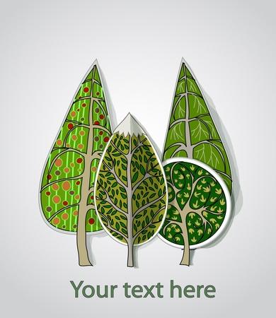 leafs: alberi di fondo Vettoriali