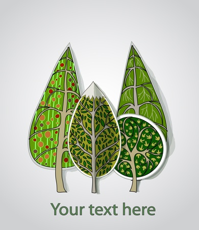 seasonal forest: trees background