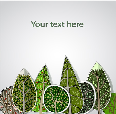 green leafs: ideal forest background Illustration