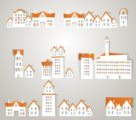 city sticker set vol.3 Stock Vector - 11324510