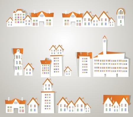 city sticker set vol.3 Vector