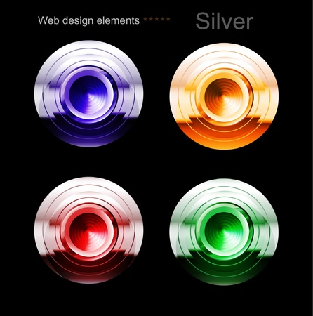 chrome button: glossy buttons