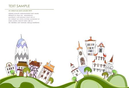web design bridge: city background Illustration