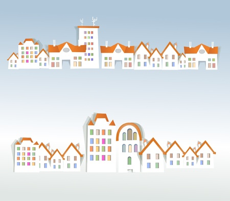 city streets background Vector