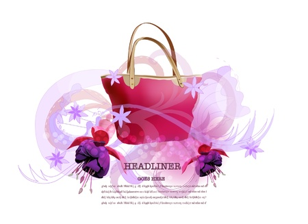 bag and ornamental background Stock Vector - 11478736