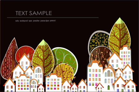 city and park abstract background Vector