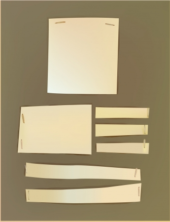 Paper backgrounds fixed with staplers Vector