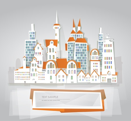 Modern capital background Vector