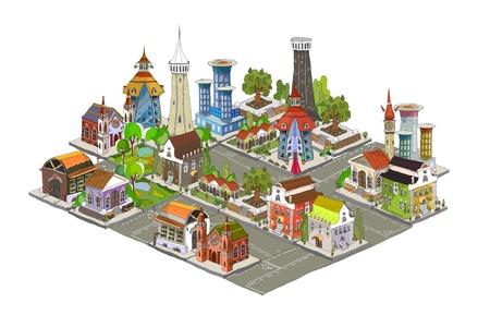 apartment market: 3D plan de la ciudad (parte 2)