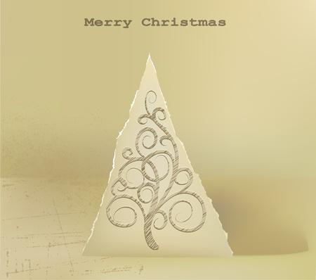 repujado: pop-up abstracto �rbol de Navidad de fondo Vectores