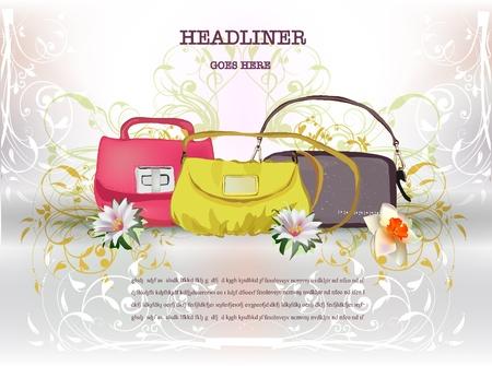 purse: bags background Illustration