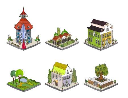 church window: city icons