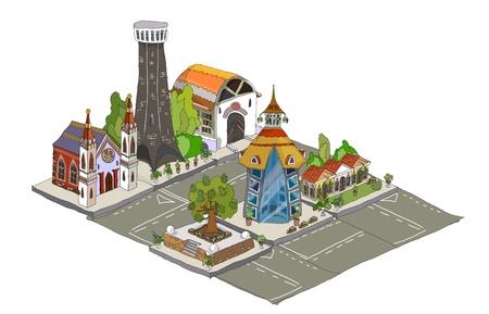 neighbor: city background Illustration