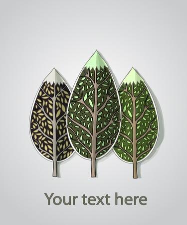 leafs: astratto alberi sfondo