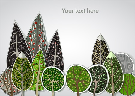 seasonal forest: abstract forest background