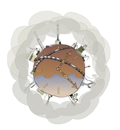 planeet omgeving concept achtergrond
